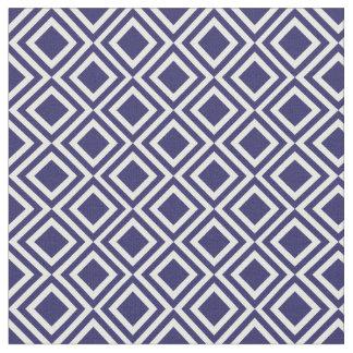 Motif géométrique de diamant marocain de bleu tissu