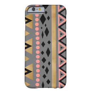 motif géométrique de feuille d'or aztèque tribale coque barely there iPhone 6