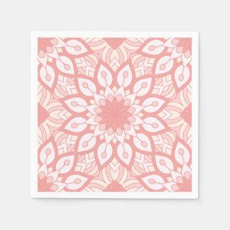 Motif géométrique de mandala floral attrayant serviettes jetables