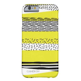Motif géométrique de mélange jaune et noir coque barely there iPhone 6