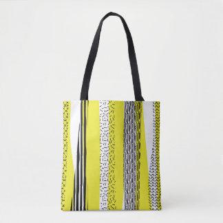 Motif géométrique de mélange jaune et noir sac