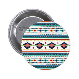 motif géométrique de Navajo ethnique tribal à la Badge Rond 5 Cm