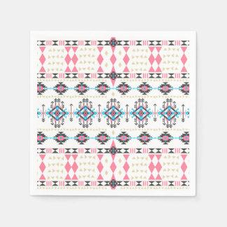 Motif géométrique de Navajo ethnique tribal Serviettes En Papier