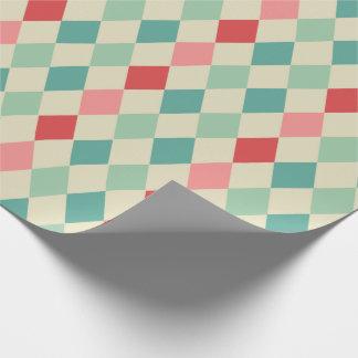 Motif géométrique de rétro harlequin papier cadeau