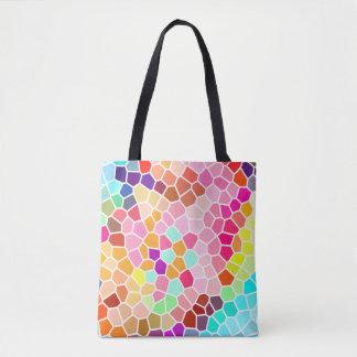 Motif géométrique de style multicolore de mosaïque sac