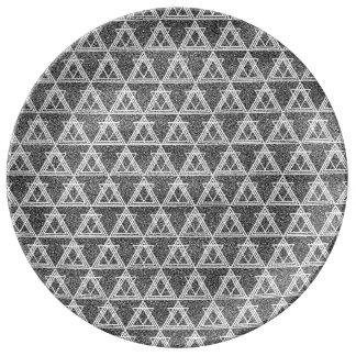 motif geometrique noir blanc assiettes motif geometrique. Black Bedroom Furniture Sets. Home Design Ideas