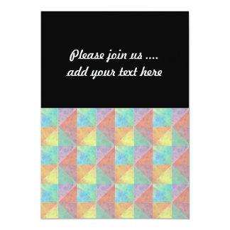 Motif géométrique de triangle rempli par aquarelle invitations personnalisées