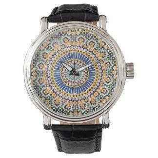 Motif géométrique de tuile, Maroc Montres Bracelet