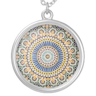 Motif géométrique de tuile, Maroc Pendentif Rond