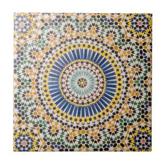 Motif géométrique de tuile, Maroc Petit Carreau Carré