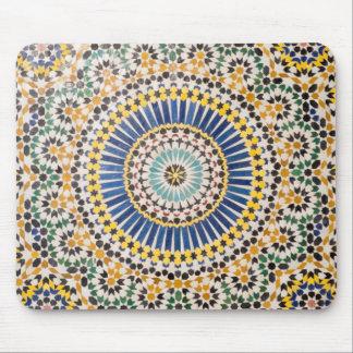 Motif géométrique de tuile, Maroc Tapis De Souris