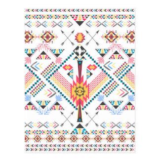 Motif géométrique ethnique tribal à la mode frais cartes postales