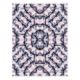 Motif géométrique futuriste carte postale