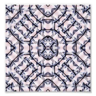 Motif géométrique futuriste impression photo