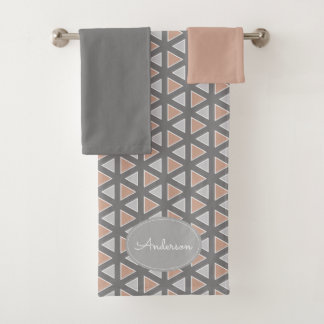 Motif géométrique gris et bronzage à la mode