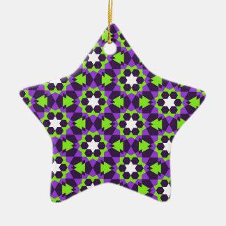 motif géométrique islamique ornement étoile en céramique