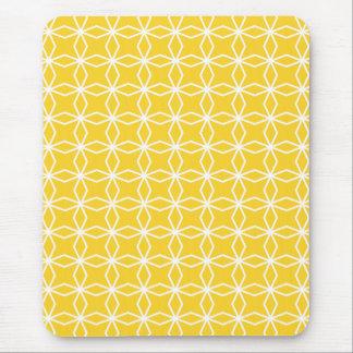 Motif géométrique jaune ensoleillé tapis de souris