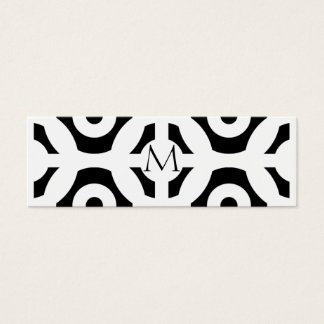 Motif géométrique mini carte de visite