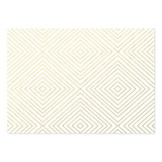 Motif géométrique moderne de carrés d'or sur le carte de visite grand format