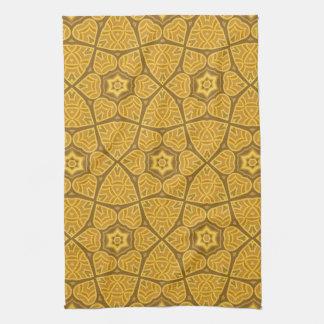 Motif géométrique moderne ethnique serviette éponge