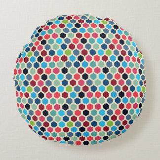 Motif géométrique multicolore coussins ronds