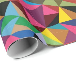 Motif géométrique multicolore papier cadeau
