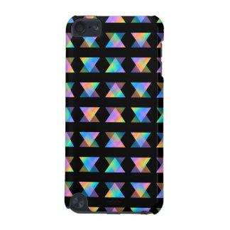 Motif géométrique multicolore sur le noir