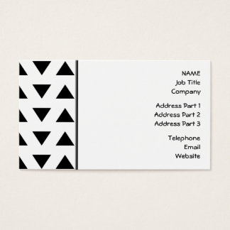 Motif géométrique noir et blanc des triangles cartes de visite