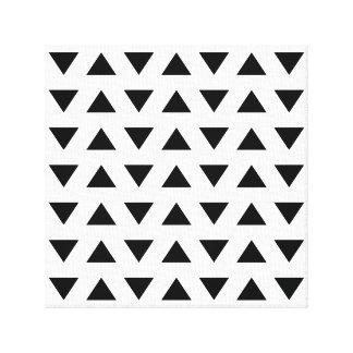 Motif géométrique noir et blanc des triangles toiles