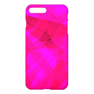 Motif géométrique rose lumineux coque iPhone 7 plus