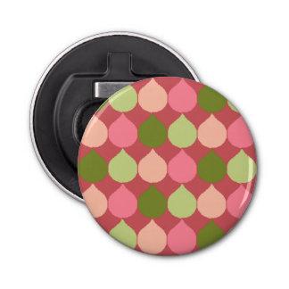 Motif géométrique vert rose de cercles de larme
