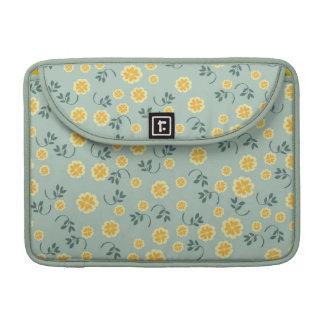 Motif girly de rétro fleur florale chic de poche pour macbook pro
