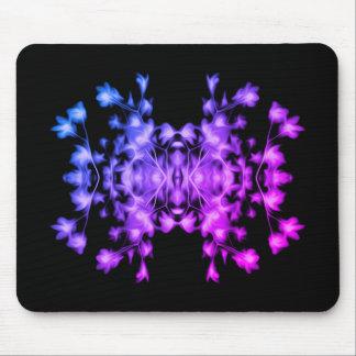 Motif graphique floral abstrait d'arc-en-ciel tapis de souris