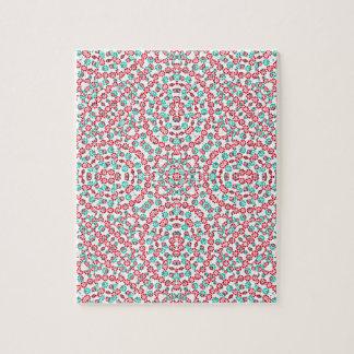 Motif graphique multicolore puzzle