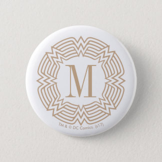 Motif grec de femme de merveille badge