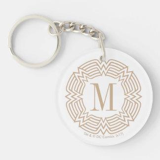 Motif grec de femme de merveille porte-clés