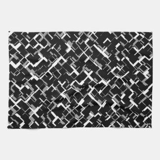 Motif gris blanc noir de Digitals Camo Linge De Cuisine
