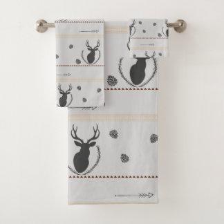Motif gris de cerfs communs