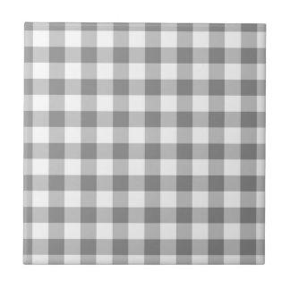 Motif gris et blanc de contrôle de guingan carreau