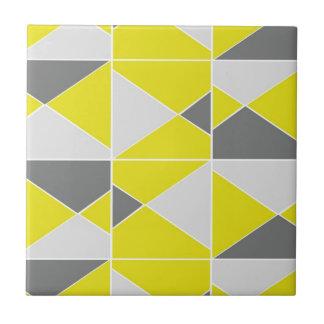 Motif gris jaune carreau