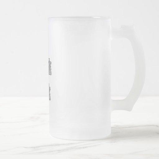 Motif gris je parle le geek tasse à café