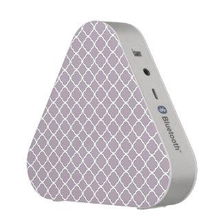 Motif gris pourpre mignon de Quatrefoil Maroccan Haut-parleur Bluetooth