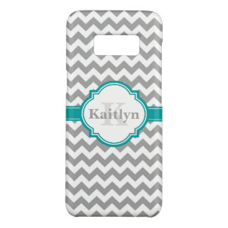 Motif gris turquoise et Marocain Quatrefoil de Coque Case-Mate Samsung Galaxy S8