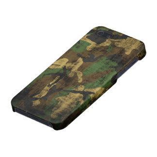 Motif grunge de camouflage coques iPhone 5