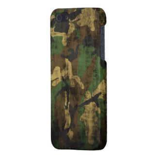 Motif grunge de camouflage étuis iPhone 5