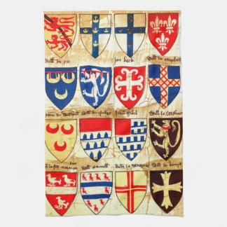 Motif héraldique décoratif serviettes éponge