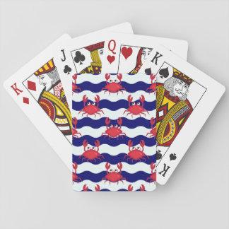 Motif heureux de crabes cartes à jouer