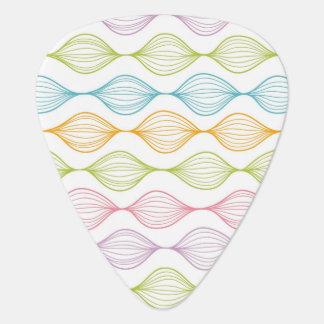 Motif horizontal coloré d'ogee onglet de guitare