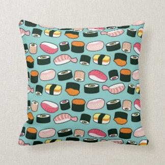 Motif illustré par amusement délicieux de sushi coussin décoratif