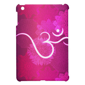 Motif indien d'ornement avec le symbole d'ohm étuis iPad mini